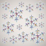 Stock Illustration of illustration of snowflake. illustration of winter. vector illustration