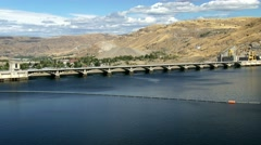 Reservoir and Grand Coulee Dam, 4K Stock Footage