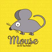 Illustration of cute animals. mouse illustration. vector illustration Stock Illustration