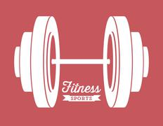 illustration of fitness icons, sports and exercise, caring figure and health, - stock illustration