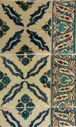 intricate iznik mosaic - stock photo