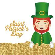 Stock Illustration of illustration of saint patrick's day, celebration of holiday, vector illustration