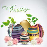 illustration of the celebration of easter, vector illustration - stock illustration