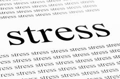 conceptual background of stress - stock photo