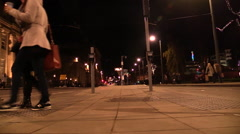 Pedestrians crossing a road. Time Lapse Stock Footage