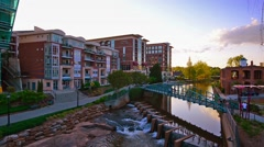 Greenville, South Carolina, USA Town Cityscape Stock Footage