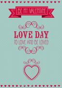 Stock Illustration of poster illustration of valentine's day, the day of love and friendship, vector