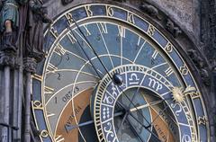 astronomical clock, prague. - stock photo