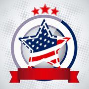 background illustration patriot of the united states of america , vector - stock illustration