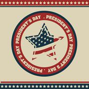 poster illustration of president's day in the united states of america in - stock illustration
