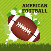 illustration of american football game, sports and entertainment, vector - stock illustration