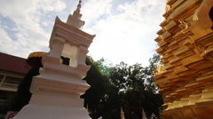 Temples in Chiang MaiThai country Stock Footage