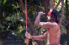 aboriginal culture show in queensland australia - stock photo