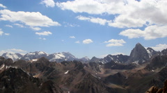 Clouds and mountains. TimeLapse, Pamir Stock Footage