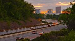 Greenville, South Carolina, USA Interstate Traffic Stock Footage