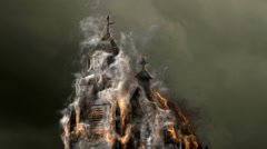 burning church - stock footage