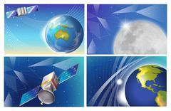 Satellite images Stock Illustration