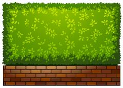 Stock Illustration of A landscaping green plant