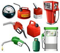 fuel set - stock illustration