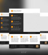 Stock Illustration of Corporate business flyer template - orange and grey