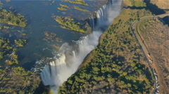 Victoria falls aerial view helicopter uhd 4k Stock Footage