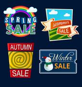 Stock Illustration of various seasonal sale event title