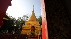 Temples in Chiang Mai Thai country Stock Footage