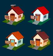 House for sale and rent Stock Illustration