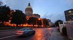 Atlanta, Georgia, USA at the Georgia State Capitol Building Arkistovideo
