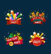 New year party event title Stock Illustration