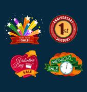 Various sale event title Stock Illustration