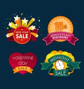 various sale event title - stock illustration