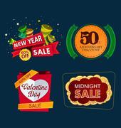 Various sale event title Stock Illustration