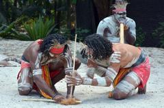 Stock Photo of aboriginal culture show in queensland australia