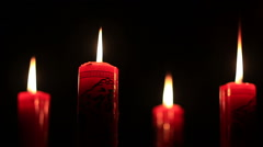 candle in the dark - stock footage