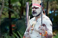 aboriginal culture show in queensland australia - stock photo