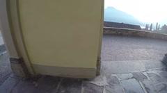 Mountains Panorama from church pillars Stock Footage