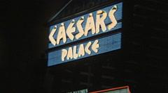 Las Vegas 1982: Caesars palace sign Stock Footage