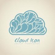 Cloud icon. cloud internet, telecommunications and networks, vector illustration Stock Illustration