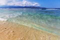 gili beach - stock photo