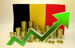 Currency appreciation - Belgian Euro Stock Illustration