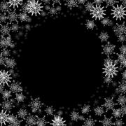 Rectangular frame with small snowflakes Stock Illustration