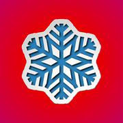 Cut out christmas snowflake Stock Illustration