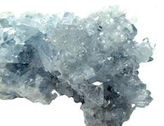 celestite geode geological crystals - stock photo