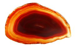 Stock Photo of agate with chalcedony geological crystal
