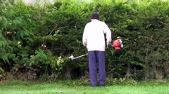 Hedge Cutting Stock Footage