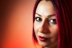 Beautiful red head woman Stock Photos