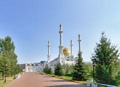 Nur-astana mosque. astana, kazakhstan Stock Photos