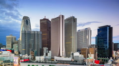 Tokyo, Japan Financial District Skyline - stock footage
