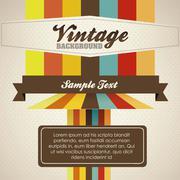 Illustration of vintage poster art, in warm colors, vector illustration Stock Illustration